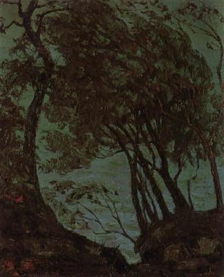 Grant Wood. Night Bay