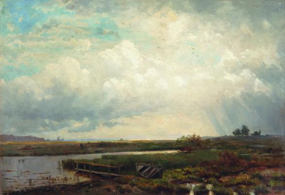 Lev Feliksovich Lagorio. A view of the beach