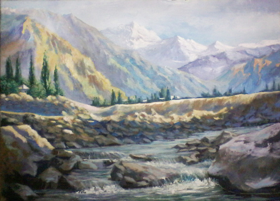 Olga Suncheleeva. Mountain river