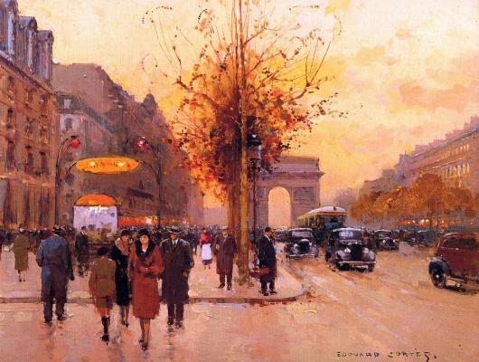 Эдуард Леон Кортес. Вид на Париж