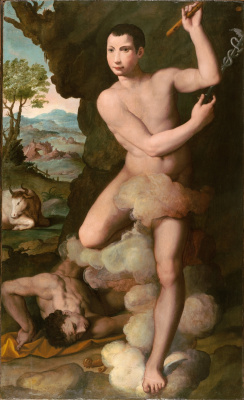 Alessandro Allori. Allegorical portrait of a young man in the image of Mercury. 1575-1580