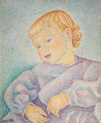 Мария Брониславовна (Воробьева-Стебельская) Маревна. Ребенок в лиловой одежде.