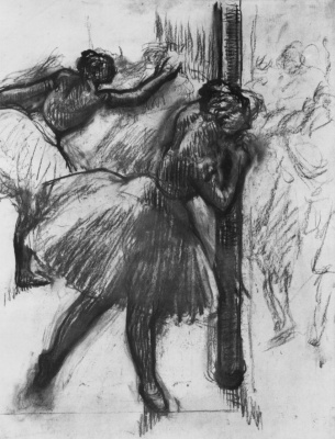 Edgar Degas. Ballerina at the support