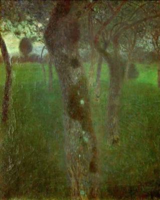 Густав Климт. Фруктовый сад в вечернее время