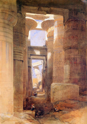 David Roberts. The temple of Amun at Karnak