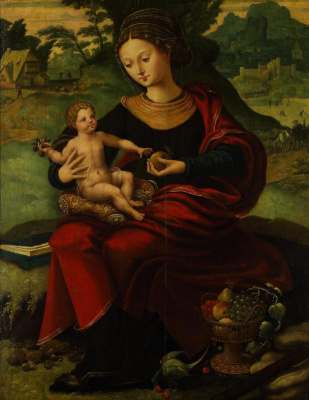 Masterpieces of unknown artists. Rest on the flight into Egypt