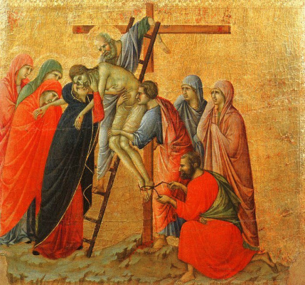 Duccio di Buoninsegna. The descent from the cross