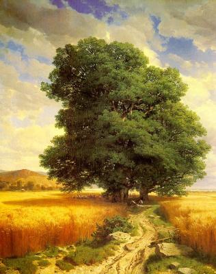 Александр Калам. Старое дерево у дороги
