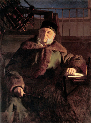 Ivan Nikolayevich Kramskoy. Portrait of the astronomer Otto Vasilevich Struve