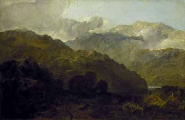 Джозеф Мэллорд Уильям Тёрнер. Горный пейзаж в Уэльсе