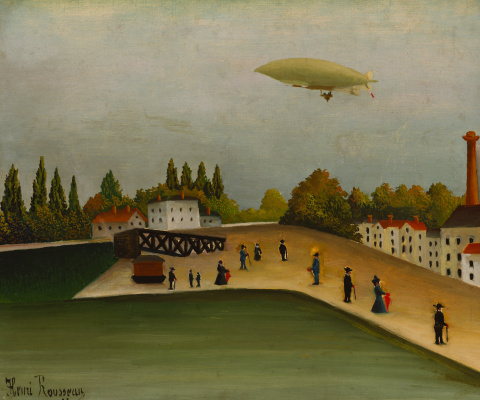 Henri Rousseau. Landscape with a dirigible