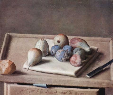 Jean-Etienne Lyotard. Still life with figs