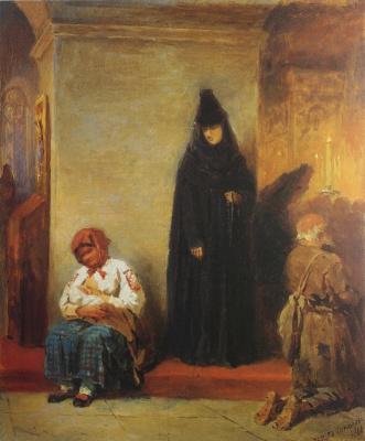 Petr Petrovich Sokolov. In the Church. 1866