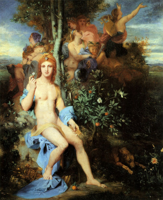 Gustave Moreau. Apollo and the nine muses