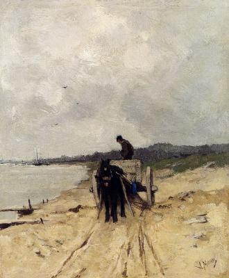 Антон Мауве. Телега с песком