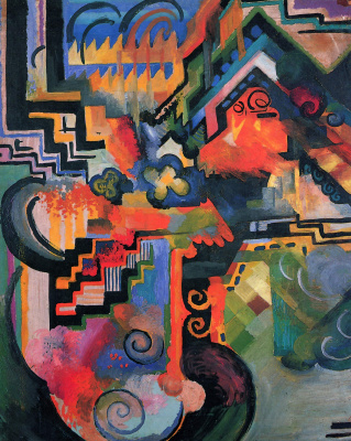 August Macke. The color composition