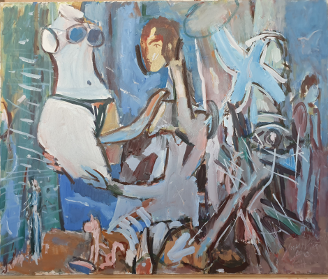 Vladimir Miski-Oglu. Composition with a female torso