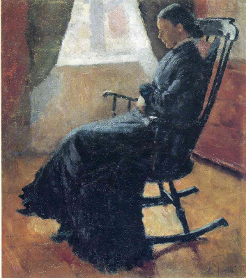 Edward Munch. Aunt Karen in the rocking chair