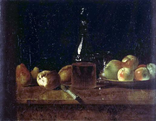 Альбер Барбье. Натюрморт с яблоками