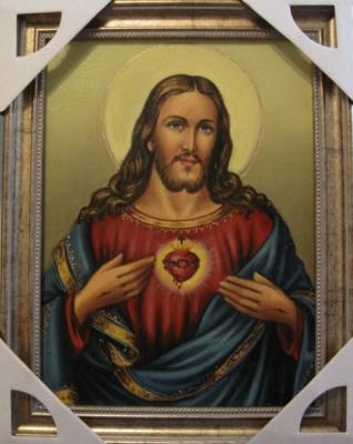 Ядвига Сенько. Сердце Иисуса - икона католическая (холст,масло)