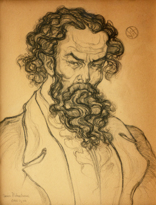 Alexey (Oleksa) Novakovsky. Self-portrait