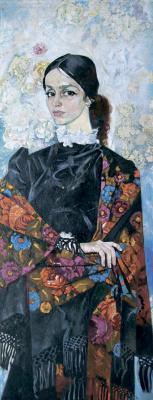 Victor Ivanovich Zaretsky. Portrait of Raisa Nedashkovskaya. (Portrait of Raisy Nedashkivskoi)