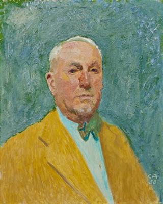 Cuno Amiè. Self-portrait in a yellow coat