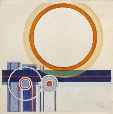 Frantisek Kupka. The orange circle
