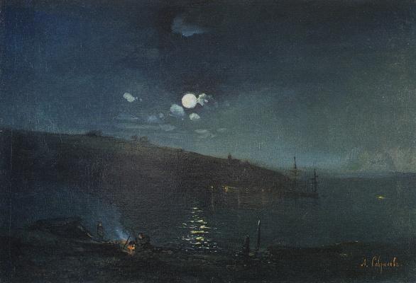 Alexey The Kondratyevich Savrasov. Moonlit night