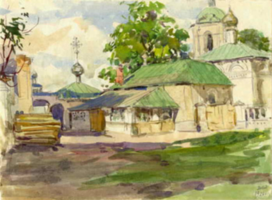 Дмитрий Иванович Архангельский. «Чебоксары. Монастырь» 1921