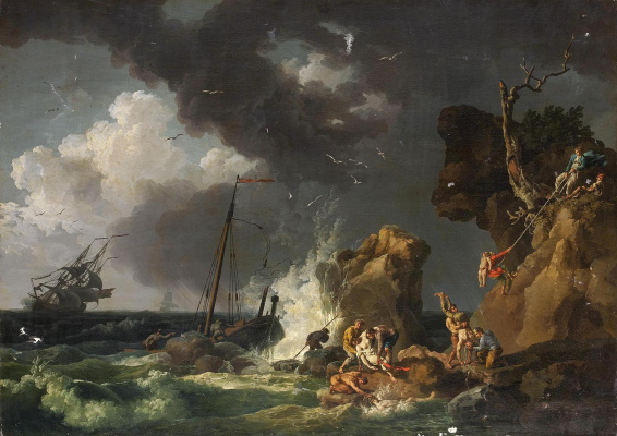 Pierre-Jacques Woller. Shipwrecked. 1767