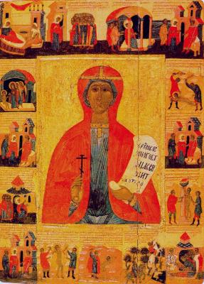 Icon Painting. Paraskeva Pyatnitsa