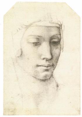 Michelangelo Buonarroti. Portrait of a woman