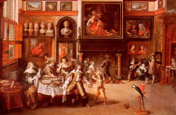 Frans Franken the Younger. Dinner at the house of burgomaster
