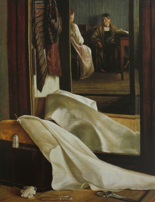 Unknown artist. The reflection in the mirror