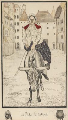 Фердинанд Ходлер. Женщина верхом на осле
