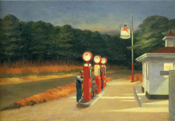 Edward Hopper. Gas