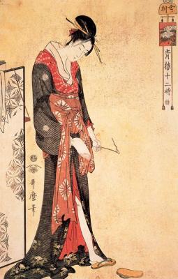 Kitagawa Utamaro. The hour of the snake