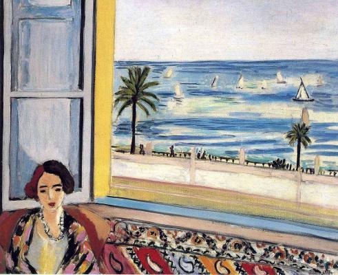 Анри Матисс. Сидящая женщина, спиной к открытому окну