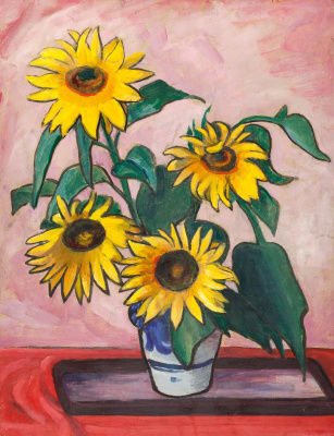 Gabriele Münter. Sunflowers