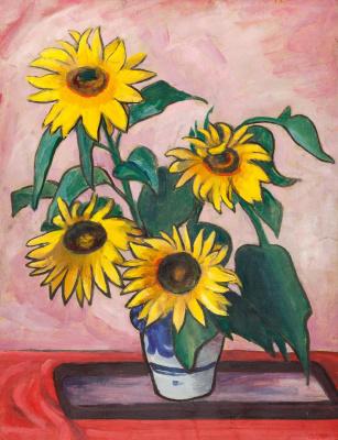 Gabriele Münter. Sunflowers