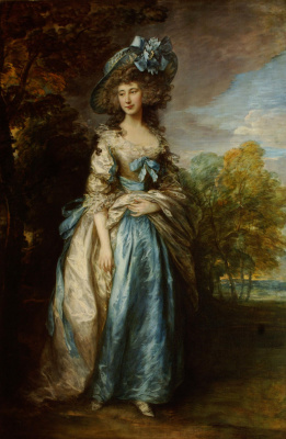 Thomas Gainsborough. Portrait of Sophia Charlotte Digby, lady Sheffield