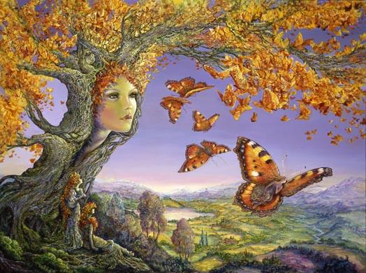 Josephine Wall. Tree of butterflies