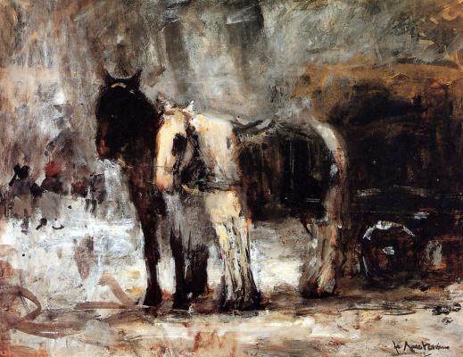 Флорис Арнцениус. Две лошади