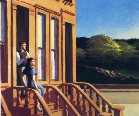 Edward Hopper. The sunlight on the walls of the mansion