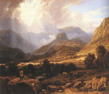 Уильям Хавелл. Пейзаж в озерном крае