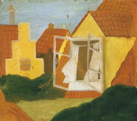 Иосиф Соломонович Школьник. Дом с открытым окном