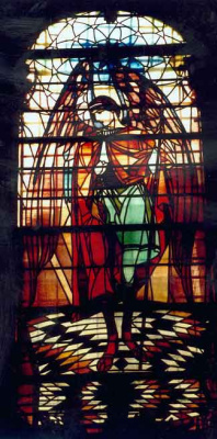 Peter Ivanovich Cold. Archangel Gabriel. Stained Glass Church of the Assumption of the Virgin