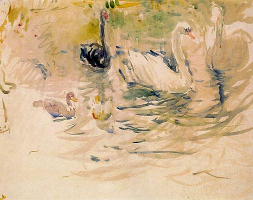 Berthe Morisot. Swans