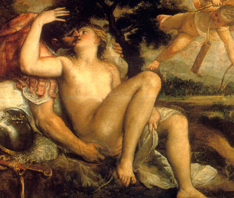 Тициан Вечеллио. Марс, Венера и Амур. Фрагмент